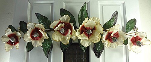37'' Cream/Burgundy Magnolia Swag by V-Max Floral Decor