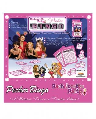 Bachelorette party pecker bingo game by Hott Products