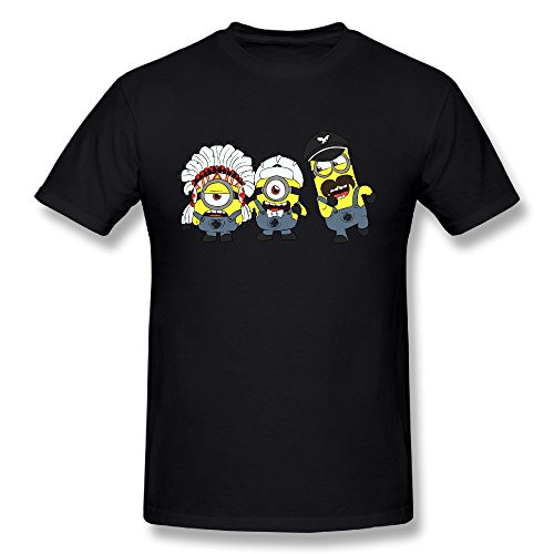 LPTTED T-shirt Tee - Minions For Men's 3X Black