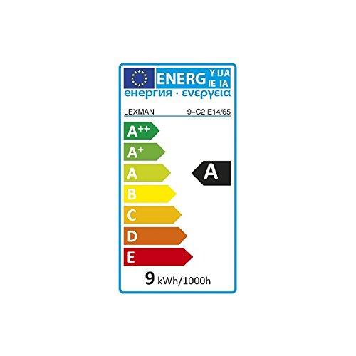 LEXMAN E14 - LOT DE 4 Ampoules Flamme Eco 9W équivalence 40W Lumière Blanche LEXMAN - LOT De 4 E14 - Ampoule Flamme Eco 9W équivalence 40W Lumière Blanche