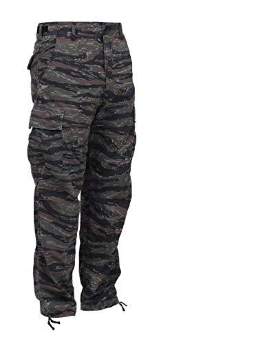 - BlackC Sport Tiger Stripe Camouflage Military Cargo Fatigue Uniform BDU Pants