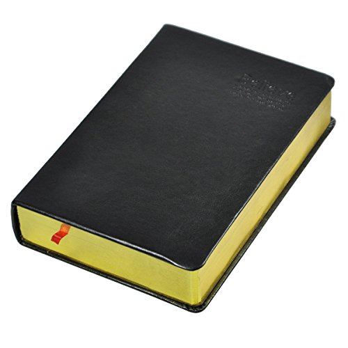 Littfun A5 Notebook Black PU Leather Vintage Bible Diary for Travel Home Office and School 720 Pages (Horizontal line) by Littfun