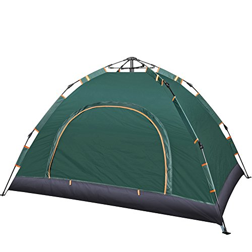 YAAO Dome 2-3 Person Tent Automatic Instant Tent for Camping Green