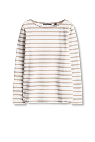 ESPRIT Collection, Camisa para Mujer Multicolor (LIGHT TAUPE 260)