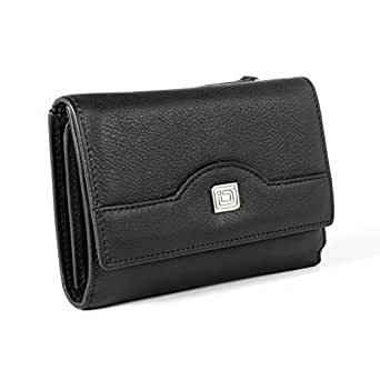 Ladies Compact Leather Trifold - RFID Wallets for Women - Top Quality Leather - RFID Protection and Security