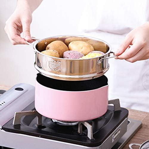 419E3402mbL. AC DOITOOL Stainless Steel Steamer Pot Vegetable Food Steamer Basket Insert Kitchen Saucepot Dim Sum Dumplings Bun Steamer 18cm     Description