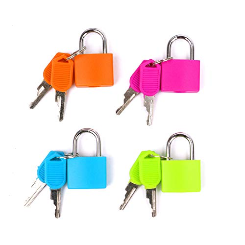 JETEHO 4 Pcs Colorful Purses Locks Clutches Closures Padlock Security Lock