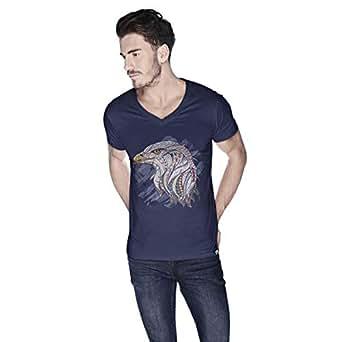 Creo Eagle Animal T-Shirt For Men - S, Navy
