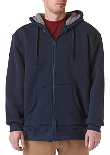teflon-mens-pebble-weave-zip-front-hoodie-with-sherpa-lining-jacket-3x-large-navy