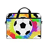 WXLIFE Colorful Sport Ball Football Soccer 13 13.3 14 Inch Laptop Shoulder Messenger Bag Case Sleeve Briefcase with Handle Strap for Men Women Boys Girls