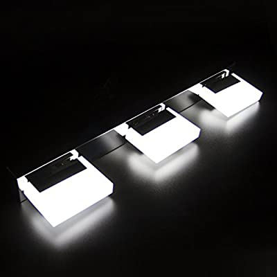 Lightess Modern LED Bathroom Crystal Lights Wall Lamps Cabinet Mirror Lighting 9w Cool White