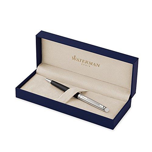 Waterman Hemisphere Deluxe Silky Black, Ballpoint Pen with Medium Blue refill (S0921230)