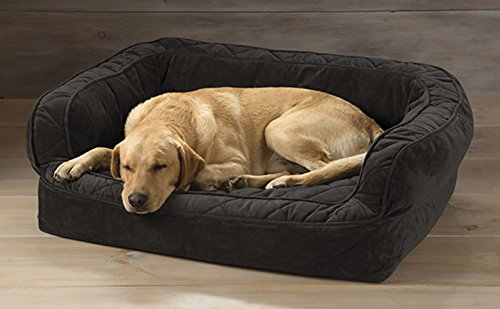 Orvis Lounger Deep Dish Dog Bed With Memory Foam / Large Dogs 60-90 Lbs., Slate, (Gray Dog Dish compare prices)