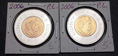 Unbranded LOT of 2X 2006 Canada $2 Dollar Proof Like TOONIESMINT Condition