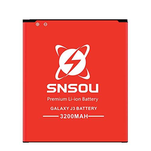 Galaxy J3 Battery, SNSOU 3200mAh Li-ion Battery for Samsung Galaxy J3 J320V  J320A J320F J320P J327A J327P EB-BG530BBC EB-BG530BBE/ Galaxy On5 Battery/