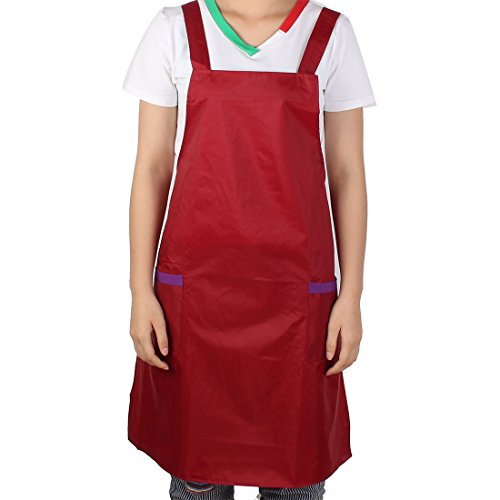 Carmina Coffee - uxcell Unisex Hotel Kitchen Restaurant Coffee Shop Cooking Dress Pocket Apron Carmine