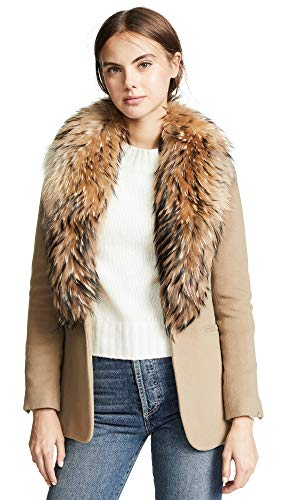 - SAM. Women's Ludlow Snap Closure Coat, Camel/Natural, Tan, Large