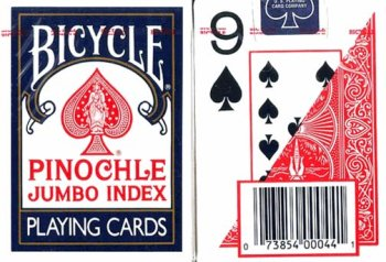 MAGNIFYING AIDS Print Pinochle Playing Cards, Large, 2 Decks