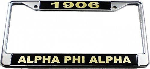 Cultural Exchange Alpha Phi Alpha 1906 Domed License Plate Frame [Silver - Car/Truck]
