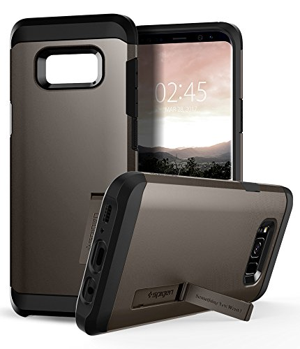 Spigen Tough Armor Galaxy S8 Case with Reinforced Kickstand and Heavy Duty Protection and Air Cushion Technology for Samsung Galaxy S8 (2017) - Gunmetal by Spigen (Image #4)