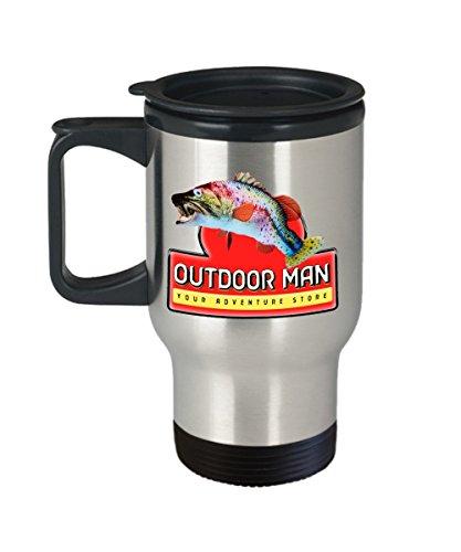 Outdoor Man Your Adventure Store Break Room Inspired 14 oz Stainless Steel Travel Mug