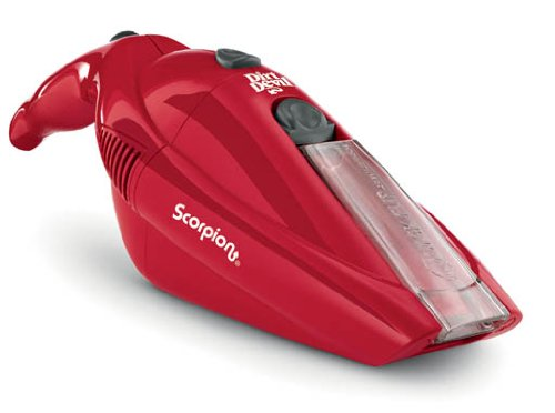 Dirt Devil Scorpion 6.0V Cordless Bagless Handheld  Vacuum, BD10050RED