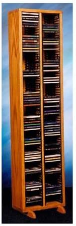 Honey Oak by Wood Shed CD Storage Tower w Individual Locking Slots 12.75 in