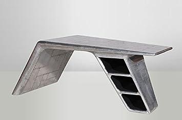 Casa Padrino Luxus Designer Schreibtisch Aviator Desk Aluminium Flugzeug  Flügel Art Deco Vintage