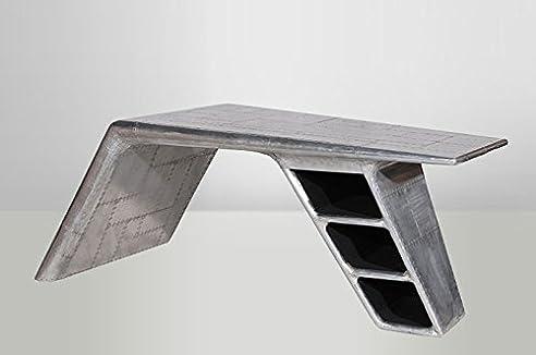 casa padrino luxus designer schreibtisch aviator desk aluminium flugzeug flgel art deco vintage - Schreibtisch Aus Flugzeugflgel