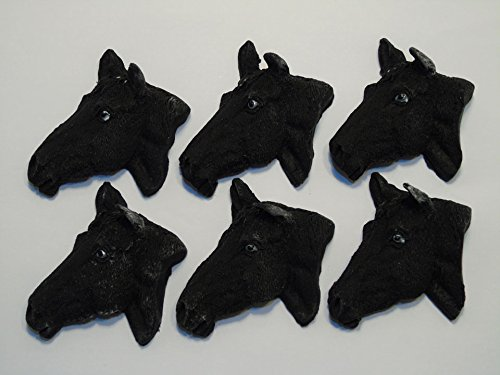 Birthday Party Cupcake Cake Topper Decorations - 6 Brown Pony/Horse heads Simply Toppers