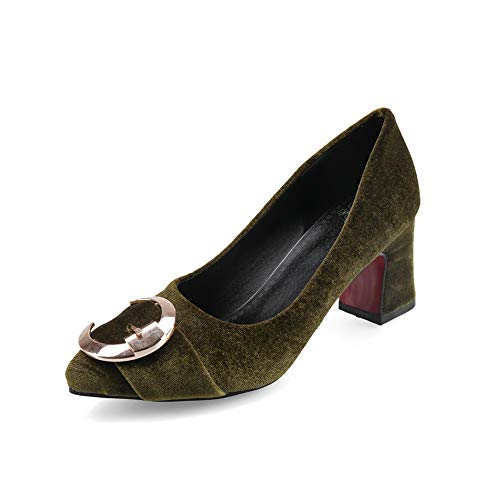 APL10458 Toggle BalaMasa Pumps Shoes Green Womens Dress Solid Urethane Wq156TFC1c