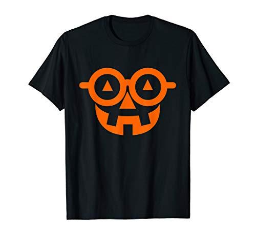 Pumpkin Nerd Shirt with Glasses Halloween Math Teacher Shirt
