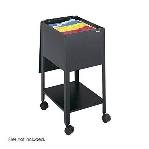 Safco Products Economy Mobile Tub File, Letter Size, Black