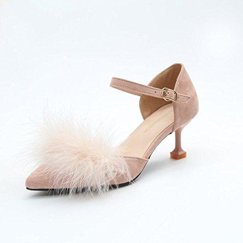 Boucle Pour Talons Minces De Et Hauts Avec Sandale Polyvalentes Vido Minces 38 Femmes Sandales Rose Chaussures xOqYIwSS