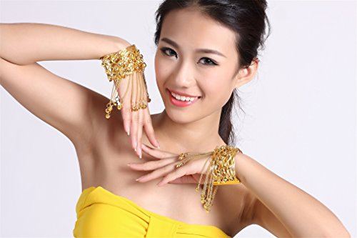 Bracelet Bangle With Bells Danse du ventre Performances Accessories Jewelry Gold