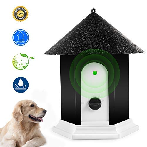 Anti Barking Device, Ultrasonic Dog Bark Controller, Waterproof Outdoor Anti Bark Control System in Birdhouse Shape (Best Places To Go Camping In Minnesota)