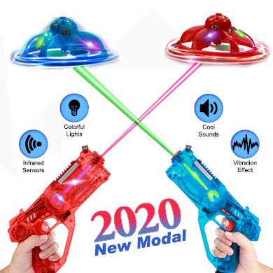 Infrared Tag Blaster as a Remote Control Drone, Infrared Guns Set with Quadcopters, Top Saucer Toys 2019, Toy Guns for Boys, Christmas Toys 2019, Flying Toys for Kids 3+, Teen Games, Red & Blue (Best Flying Toys 2019)