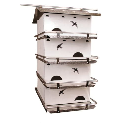 Birds Choice Waters Edge 4-Floor-8 Suites Purple Martin House with Starling Resistent Holes
