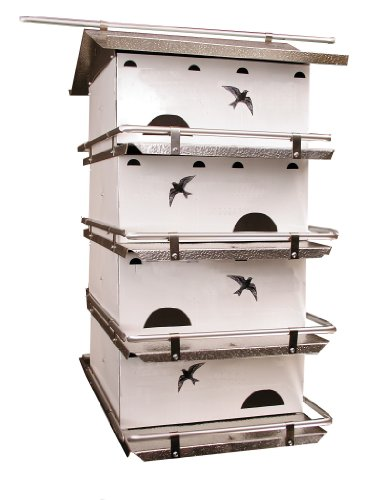 Birds Choice Waters Edge 4-Floor-8 Suites Purple Martin House with Starling Resistant Holes