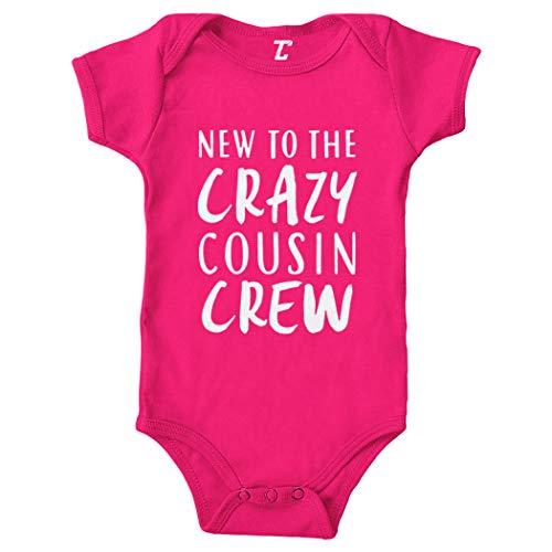 New to The Crazy Cousin Crew - Newborn Bodysuit (Pink, 6 Months)
