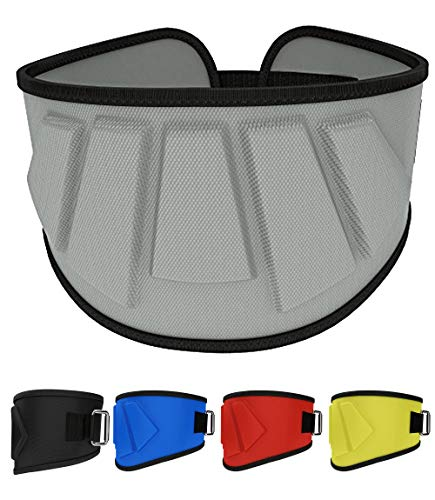 Rip Toned 6 Inch Weightlifting Belt, Olympic Lifting, Weight Lifting Belt for Men and Women, Back Support for Weightlifting (Gray, Medium)