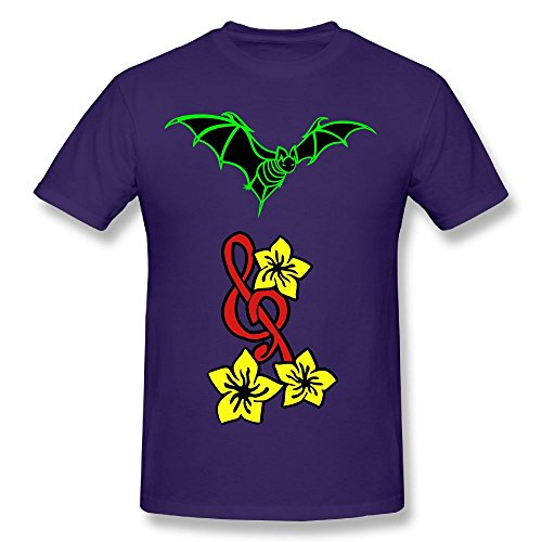 Fengzedid Bat (HQ) Women's Short Sleeve Comfartable T ShirtSize M Color Purple (Halloween Remix Playlist)