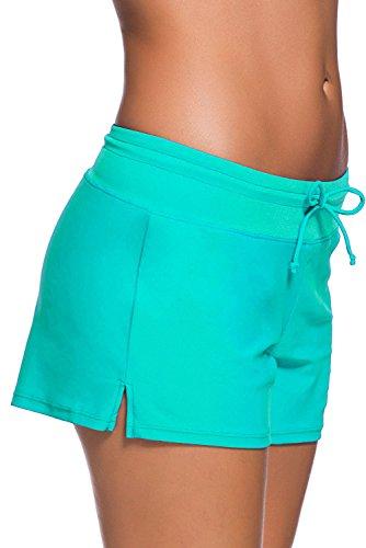QUEENIE VISCONTI  - Shorts - para mujer Verde
