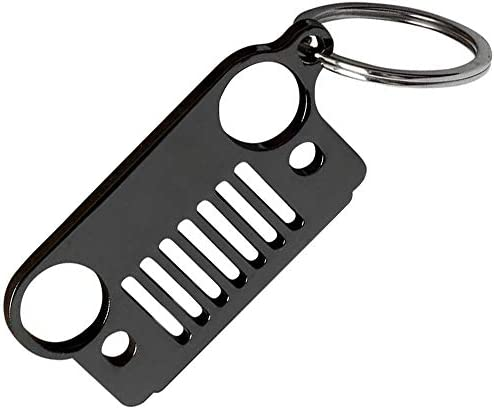Jeep Grill Keychain A Lifetime of Freedom - 304 Stainless Steel Jeep Key Ring for Jeep Enthusiasts