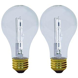GE Reveal HD Halogen Light Bulbs, A19 Enhance Spectrum Halogen Light Bulbs (100 Watt Replacement Light Bulbs), 1120 Lumen, Medium Base Light Bulbs, 2-Pack Halogen Light Bulbs
