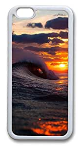 iphone 6 4.7inch Case iphone 6 4.7inch CasesWave Crashing TPU Rubber Soft Case Back Cover for iphone 6 4.7inch White