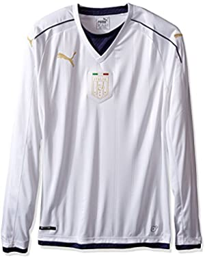 Men's Figc Italia Tribute Away Ls Shirt Replica