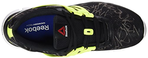 Reebok Sublite XT Cushion GRFTMT - Zapatillas de running, Hombre Varios colores (Black /         Shark /         Solar Yellow /         White)