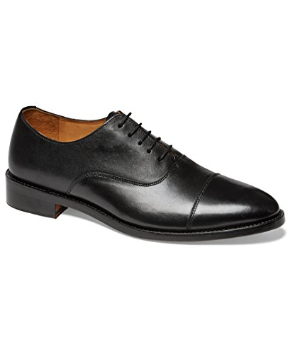 Anthony Veer Mens Clinton Cap-Toe Oxford Leather Shoe in Goodyear Welted Construction (8.5 D, Black)