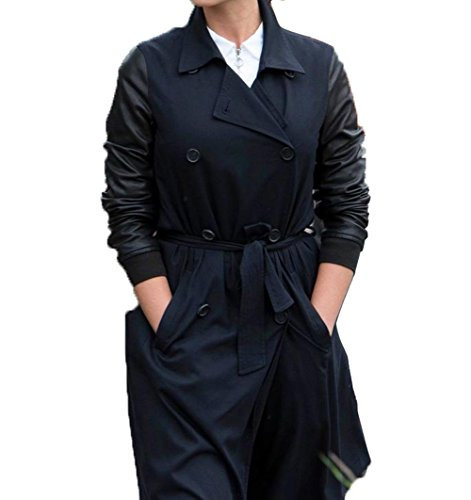 Clara Oswald Costume Gift Ideas Double Breasted Doctor Who Outwear Coat For Womens XL (Dr Who Costume Ideas)